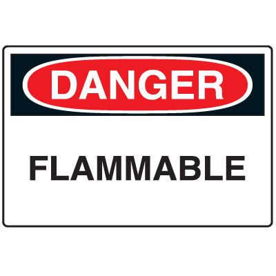 Disposable Plastic Corrugated Signs - Danger Flammable