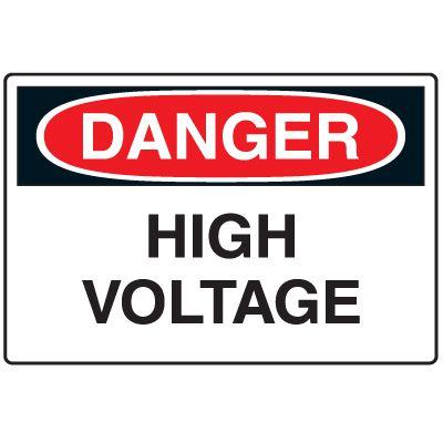Disposable Plastic Corrugated Signs - Danger High Voltage