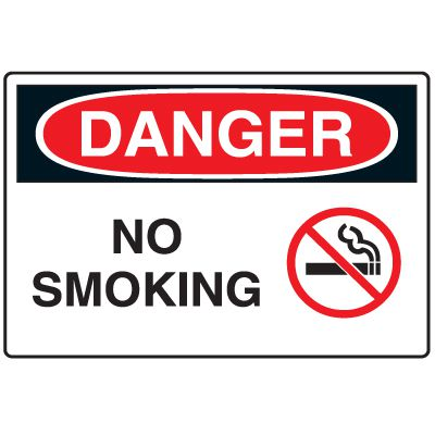 Disposable Plastic Corrugated Signs - Danger No Smoking