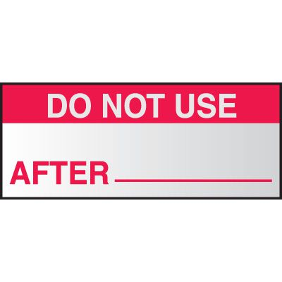 Do Not Use After Write On Labels