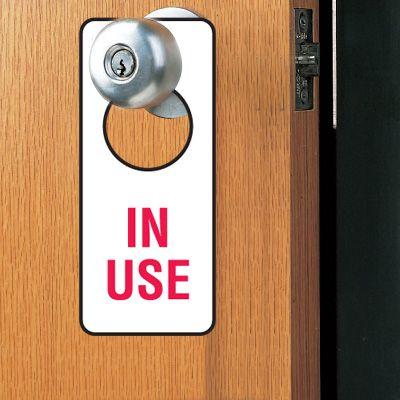 Door Knob Hangers- In Use