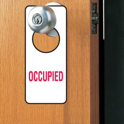 Door Knob Hangers- Occupied