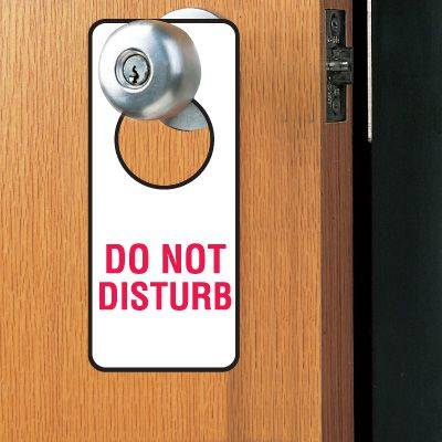 Door Knob Hangers- Do Not Disturb