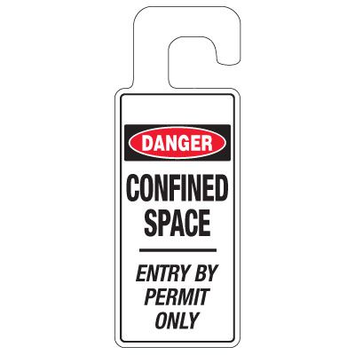 Door Knob Hangers - Danger Confined Space
