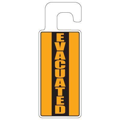 Door Knob Hangers - Evacuated (Vertical)
