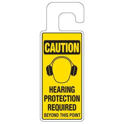 Door Knob Hangers - Hearing Protection Required