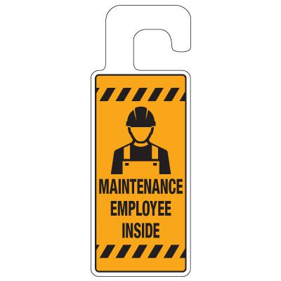 Door Knob Hangers - Maintenance Employee Inside