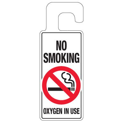 Door Knob Hangers - No Smoking Oxygen In Use