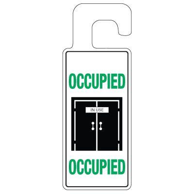 Door Knob Hangers - Occupied With Graphic