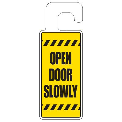 Door Knob Hangers - Open Door Slowly