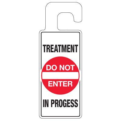 Door Knob Hangers - Treatment In Progress