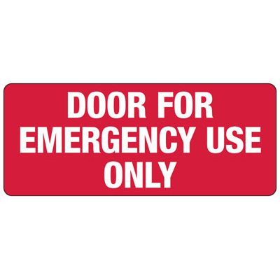 Door For Emergency Use Only Sign - Door Safety Sign