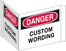 Custom Double Faced Flanged Safety Signs