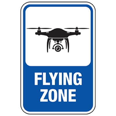 Drone Flying Zone Sign