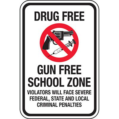 Drug Free Gun Free School Zone