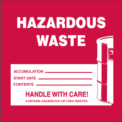 Drum Identification Labels - Hazardous Waste