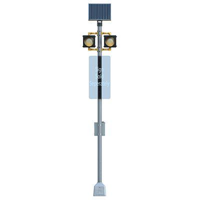 Dual BlinkerBeacon™ Solar Flashing LED Beacons - Horizontal