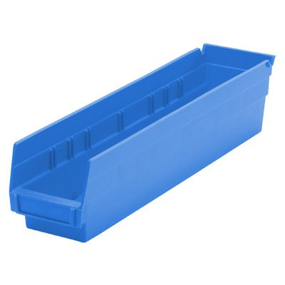 Durable Plastic Shelf Bins 17-7/8L x 6-5/8W x 4H