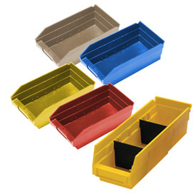Durable Plastic Shelf Bins 11-5/8L x 4-1/8W x 4H