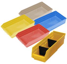 Durable Plastic Shelf Bins 11-5/8L x 8-3/8W x 4H