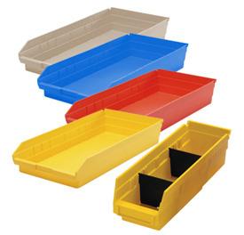 Durable Plastic Shelf Bins 23-5/8L x 8-3/8W x 4H