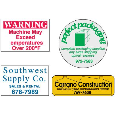 Custom Durable Polyester Roll Form Labels