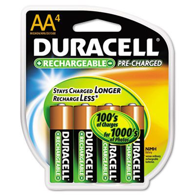 Duracell® Coppertop® NiMH pre-charged Rechargeable Battery DX1500R4