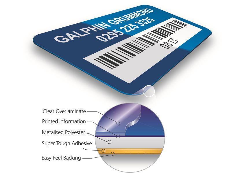 DuraGuard® Stock Bar Code Asset Tags