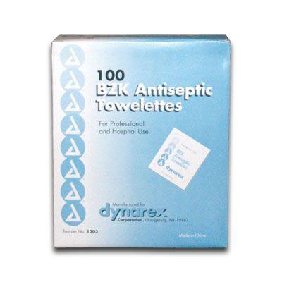 Dynarex BZK Antiseptic Towelettes 1303