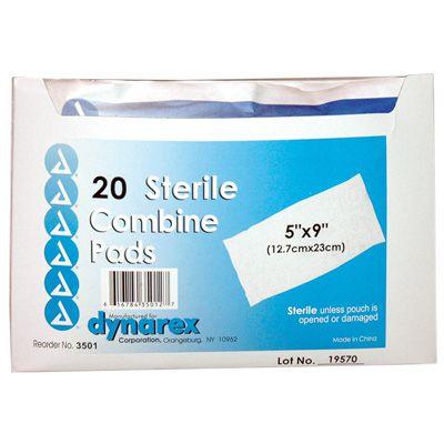 Dynarex® Sterile Combine Pads 3501