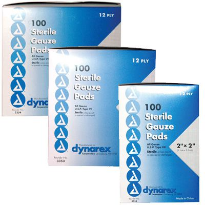Dynarex® Sterile Gauze Pads