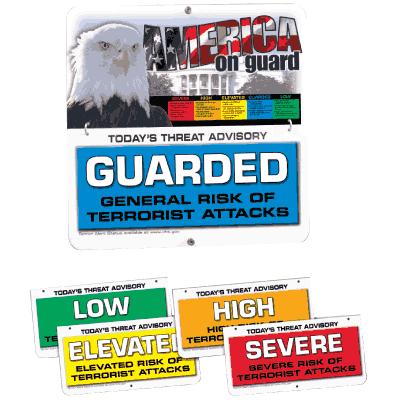Easy Flip Security Signs- Homeland Security