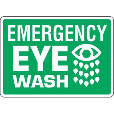 Eco-Friendly Signs - Emergency Eye Wash