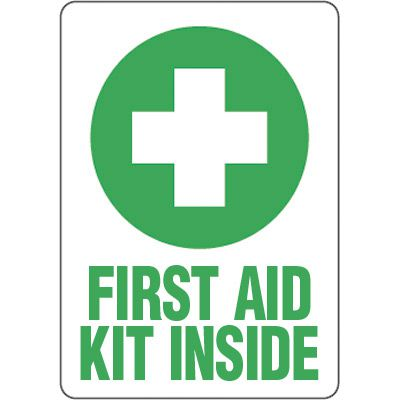 Eco-Friendly First Aid Signs - First Aid Kit Inside
