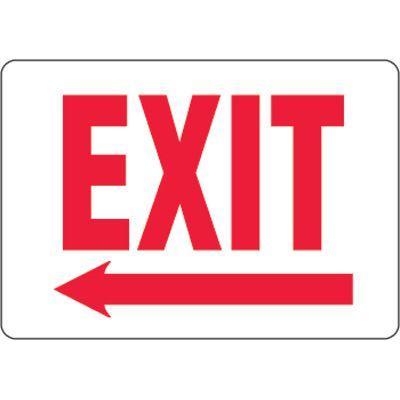 Eco-Friendly Exit Signs w/ Left Arrow
