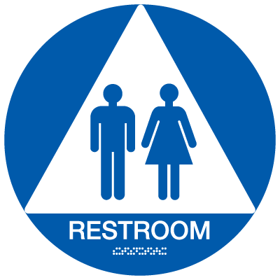 California  Code ADA Rest Room Signs - Blue