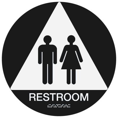 California Code ADA Rest Room Signs - Black