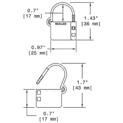 Economy Plastic Mini Lock Seals