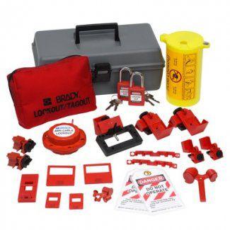 Electrical Lockout Toolbox Kit W/ Brady Safety Padlocks & Tags