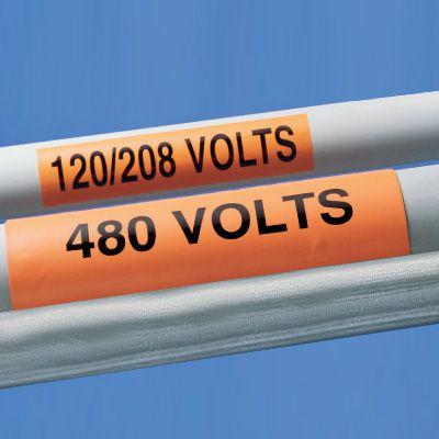 120/208 Volts - Self-Adhesive Electrical Markers