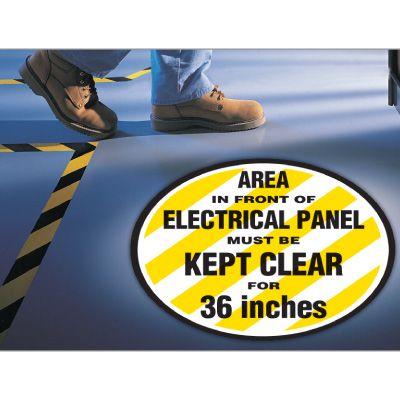 Electrical Panel Anti-Slip Floor Markers