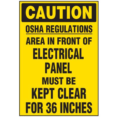 Electrical Safety Labels On-A-Roll - Caution OSHA Regulations