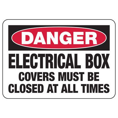 Danger Electrical Box - Electrical Safety Signs