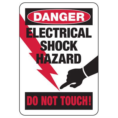 Danger Electrical Shock Hazard - Electrical Safety Signs