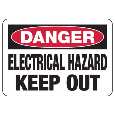 Danger Electrical Hazard Keep Out - Electrical Safety Signs