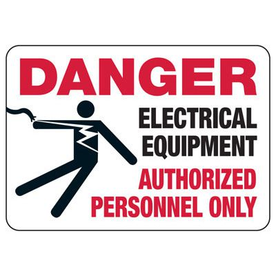 Danger Electrical Equipment With Graphic - Electrical Safety Signs