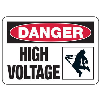 Danger High Voltage (Shock) - Electrical Safety Signs