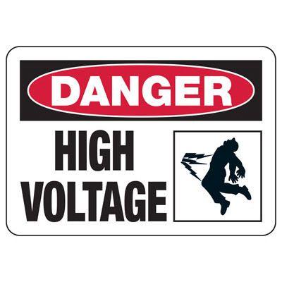 Danger High Voltage (Shock) - Electrical Safety Signs