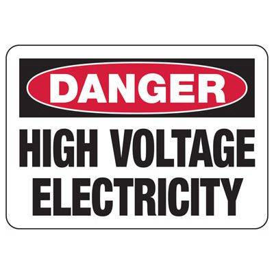 Danger High Voltage Electricity - Electrical Safety Signs