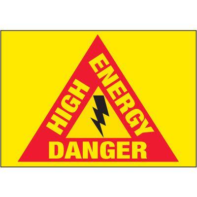 Electrical Warning Labels - High Energy Danger
